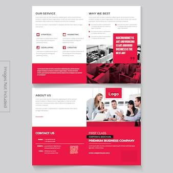 Brochura bi-dobrada minimalista