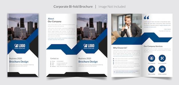 Brochura bi-fold de negócios corporativos