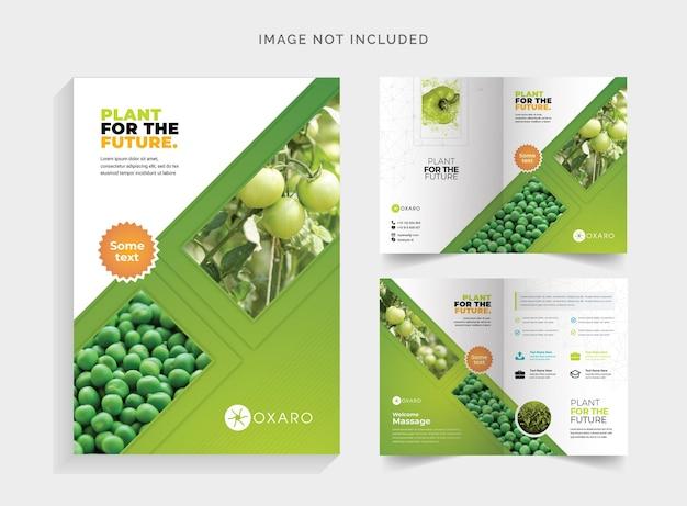 Brochura bifold da agricultura