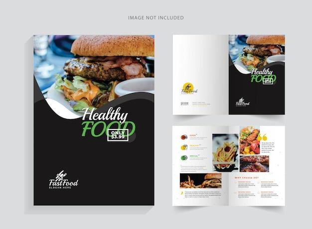 Brochura bifold saudável e alimentar