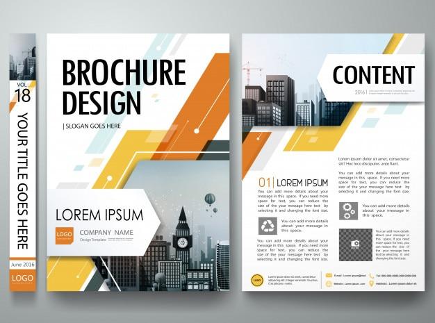 Brochura capa livro panfletos portfólio cartaz layout