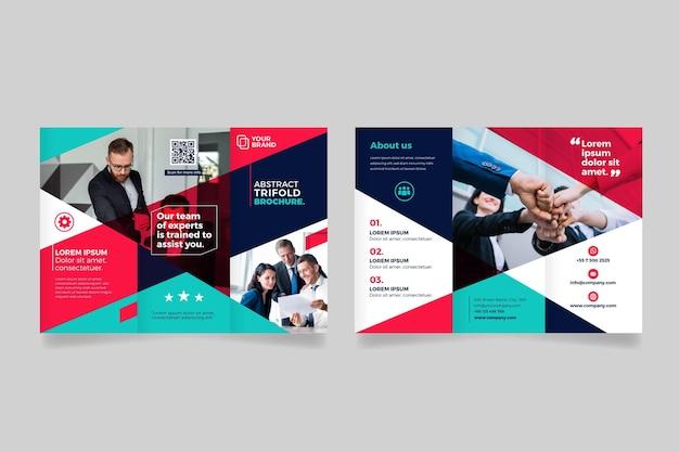 Brochura com três dobras abstrata com foto