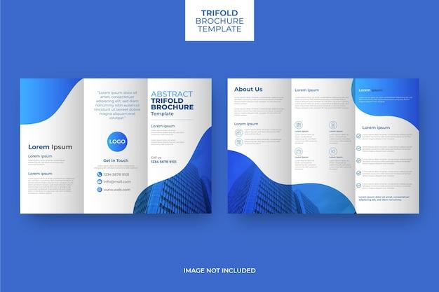 Brochura com três dobras abstrata