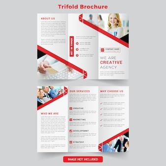 Brochura com três dobras corporativas