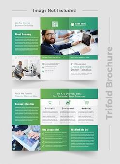 Brochura com três dobras criativa