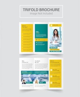 Brochura com três dobras da empresa