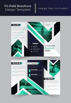 Brochura com três dobras de negócios corporativos criativos