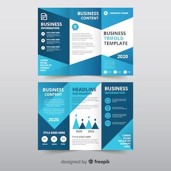 Brochura com três dobras de negócios
