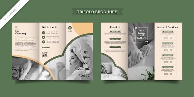 Brochura com três dobras de spa