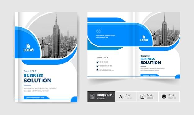 Brochura comercial modelo de design de capa criativa apresentação de brochura com duas dobras