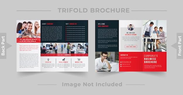 Brochura corporativa com três dobras