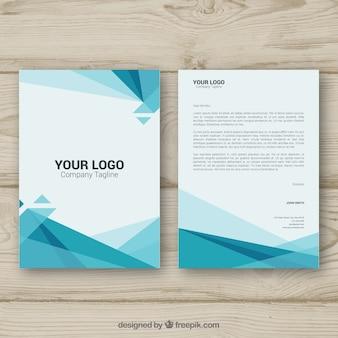 Brochura corporativa poligonal