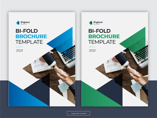 Brochura criativa capa modelo de folheto de relatório anual