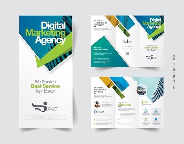Brochura criativa com três dobras