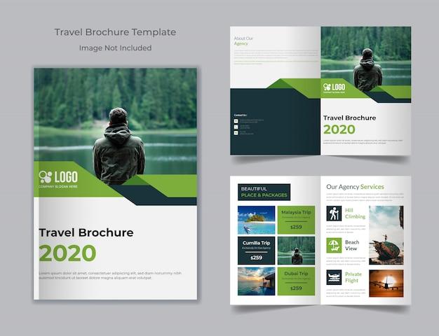 Brochura da agência de turismo e viagens