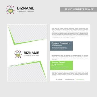 Brochura da empresa com o logotipo da empresa e design elegante