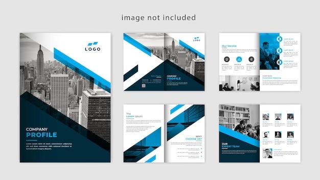Brochura da empresa moderna