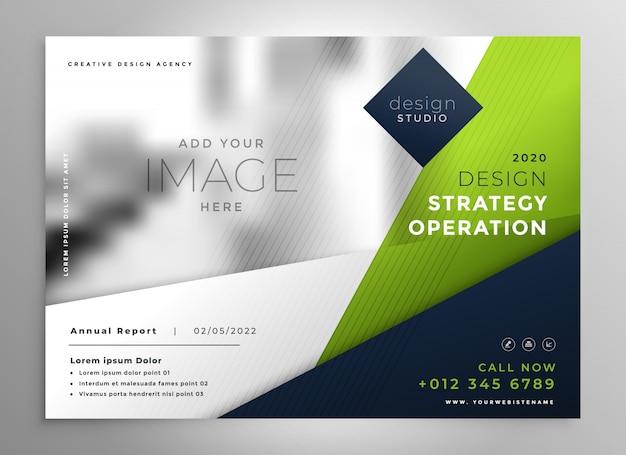 Brochura de apresentação de negócios verde moderno