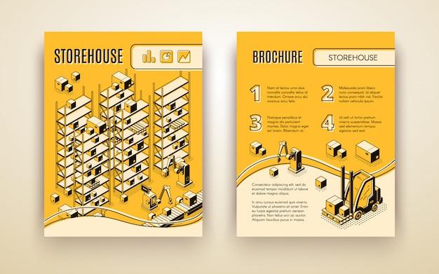 Brochura de armazém automatizada