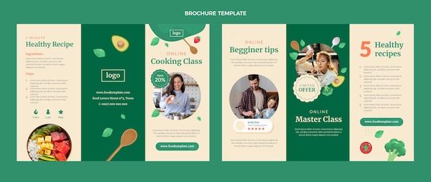 Brochura de aula de culinária de design plano