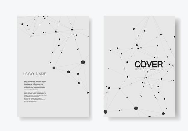 Brochura de capa moderna com tecnologia