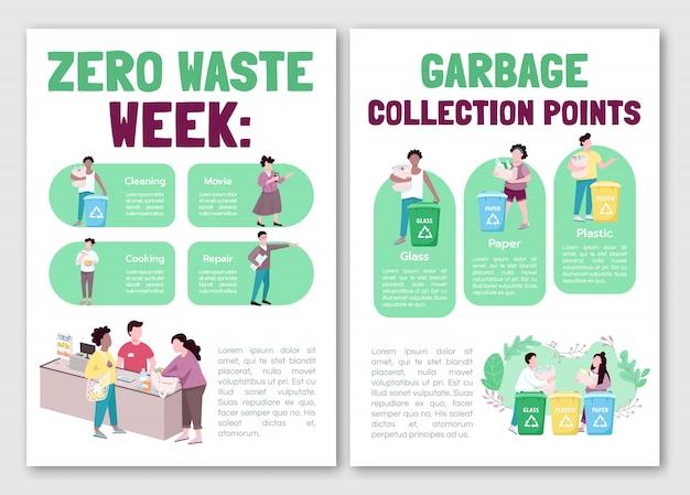 Brochura de coleta de lixo