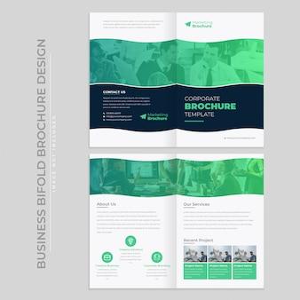 Brochura de empresa bifold, modelo de catálogo