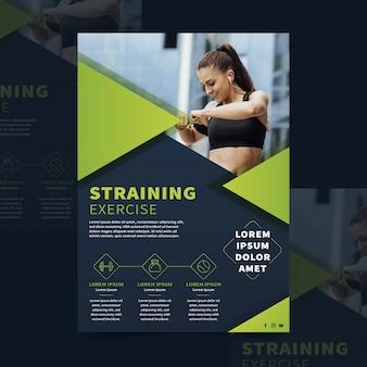 Brochura de esporte com foto