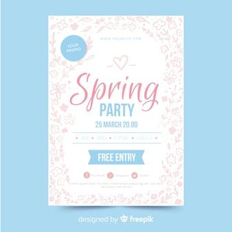 Brochura de festa de primavera
