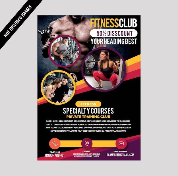 Brochura de ginástica