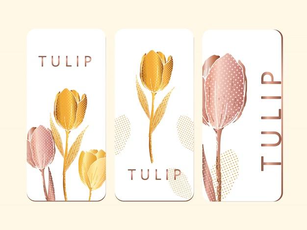 Brochura de impressão de tulipa