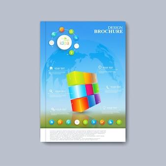 Brochura de layout de modelo moderno, revista, folheto, livreto, capa ou relatório em tamanho a4 para seu projeto.