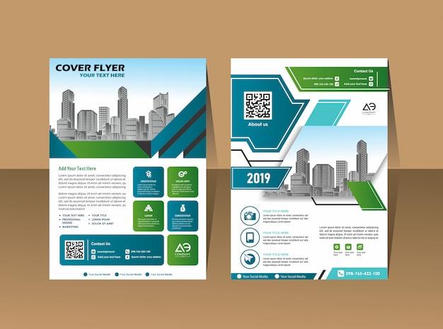 Brochura de livro de capa de design