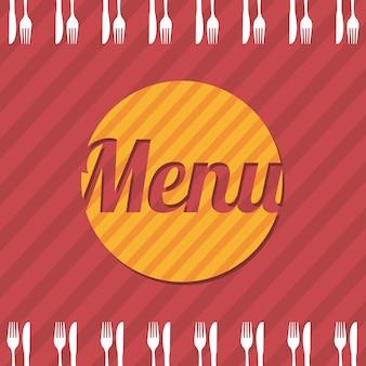 Brochura de menu sobre ilustração vetorial de fundo vermelho