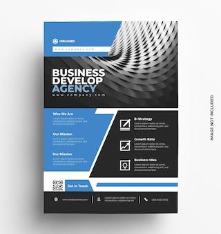 Brochura de modelo de folheto de negócios corporativos com foto