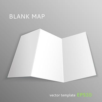 Brochura de modelo de mapa em branco