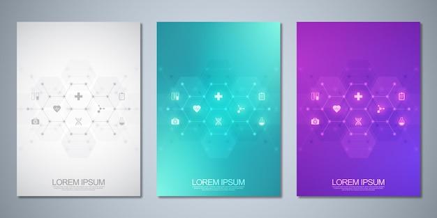 Brochura de modelo ou livro de capa, layout de página, design de folheto