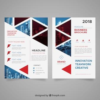 Brochura de negócios abstrata