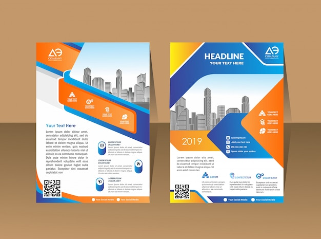 Brochura de negócios background design template flyer layout