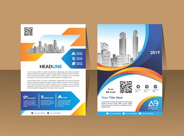 Brochura de negócios background design template flyer layout