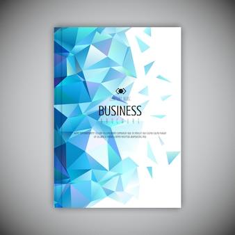 Brochura de negócios baixo poli