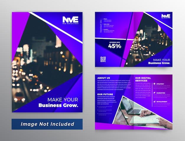 Brochura de negócios bifold abstrata