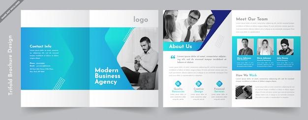 Brochura de negócios bifold