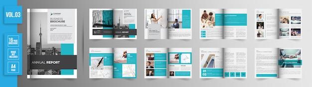 Brochura de negócios corporativos de 16 páginas