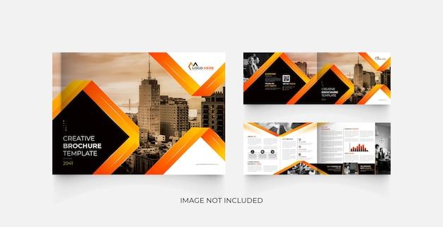 Brochura de negócios corporativos de 4 páginas modern landscape