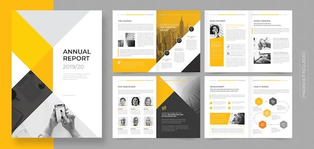 Brochura de negócios corporativos profissionais ou modelo de livreto