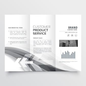 Brochura de negócios criativos abstrata três vezes