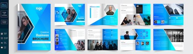 Brochura de negócios criativos.