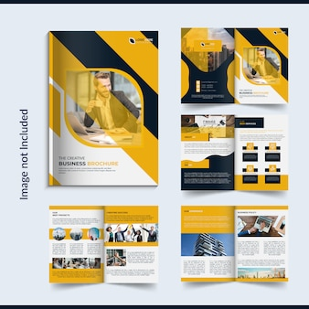 Brochura de negócios de 8 páginas design