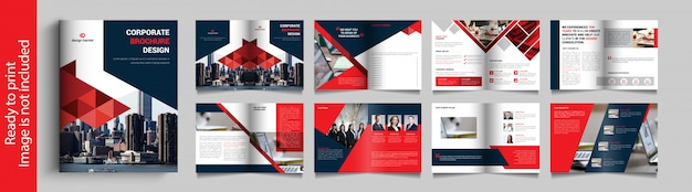 Brochura de negócios de dezesseis páginas